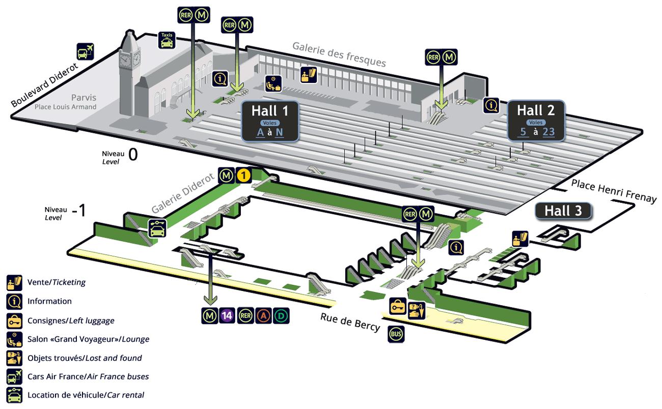 Paris Gare De Lyon Train Station Information