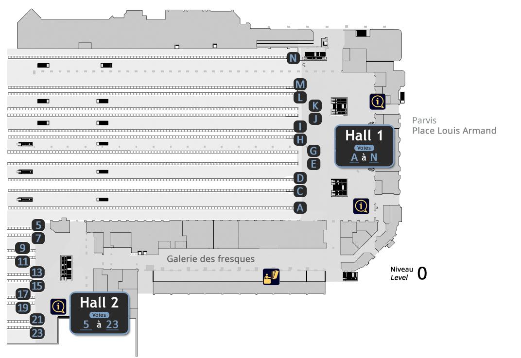 Plans Et Orientation Paris Gare De Lyon